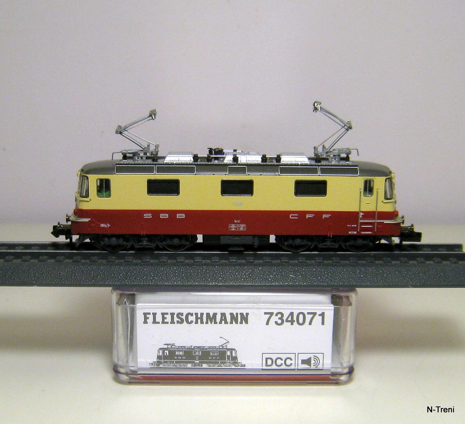Fleischmann N 734071 DCC + SOUND - Loco Re 4 4 II delle SBB. Livrea TEE