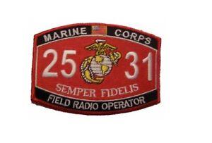 Details about USMC MARINE CORPS 2531 FIELD RADIO OPERATOR PATCH VETERAN MOS  SEMPER FI RTO COMM