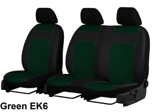 FORD TRANSIT 2000-2006 2+1 ECO LEATHER SEAT COVERS MADE TO MEASURE FOR VAN