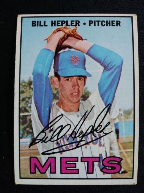 1967 Topps Baseball Card # 144 Bill Hepler - New York Mets
