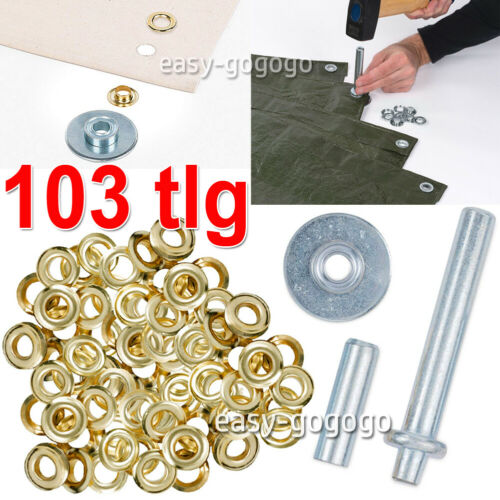 103tlg Ösen Installations Ösenzange Sortiment Ösenwerkzeug Einschlagstempel
