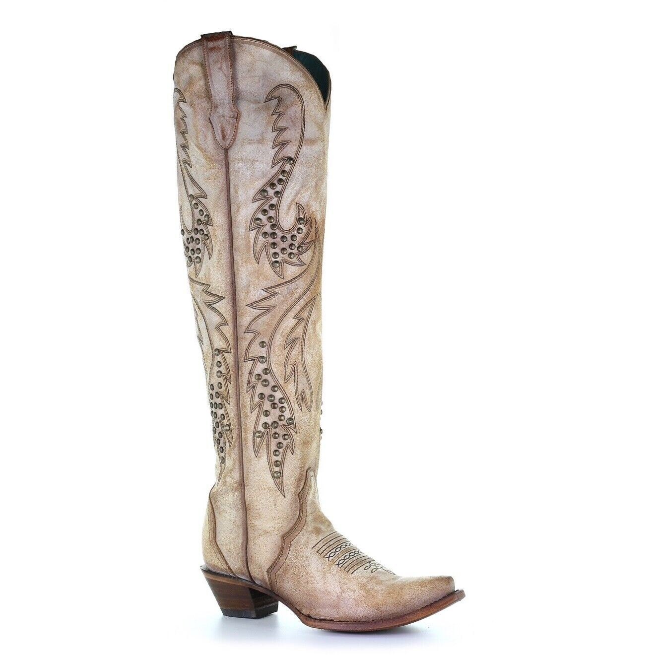 Corral Ladies Saddle Embroidery & Studs Studs Studs Tall Top Boots C3543 20a879