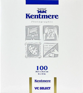 Kentmere-VC-Select-Luster-8x10-034-B-amp-W-Darkroom-Paper-100-Sheets