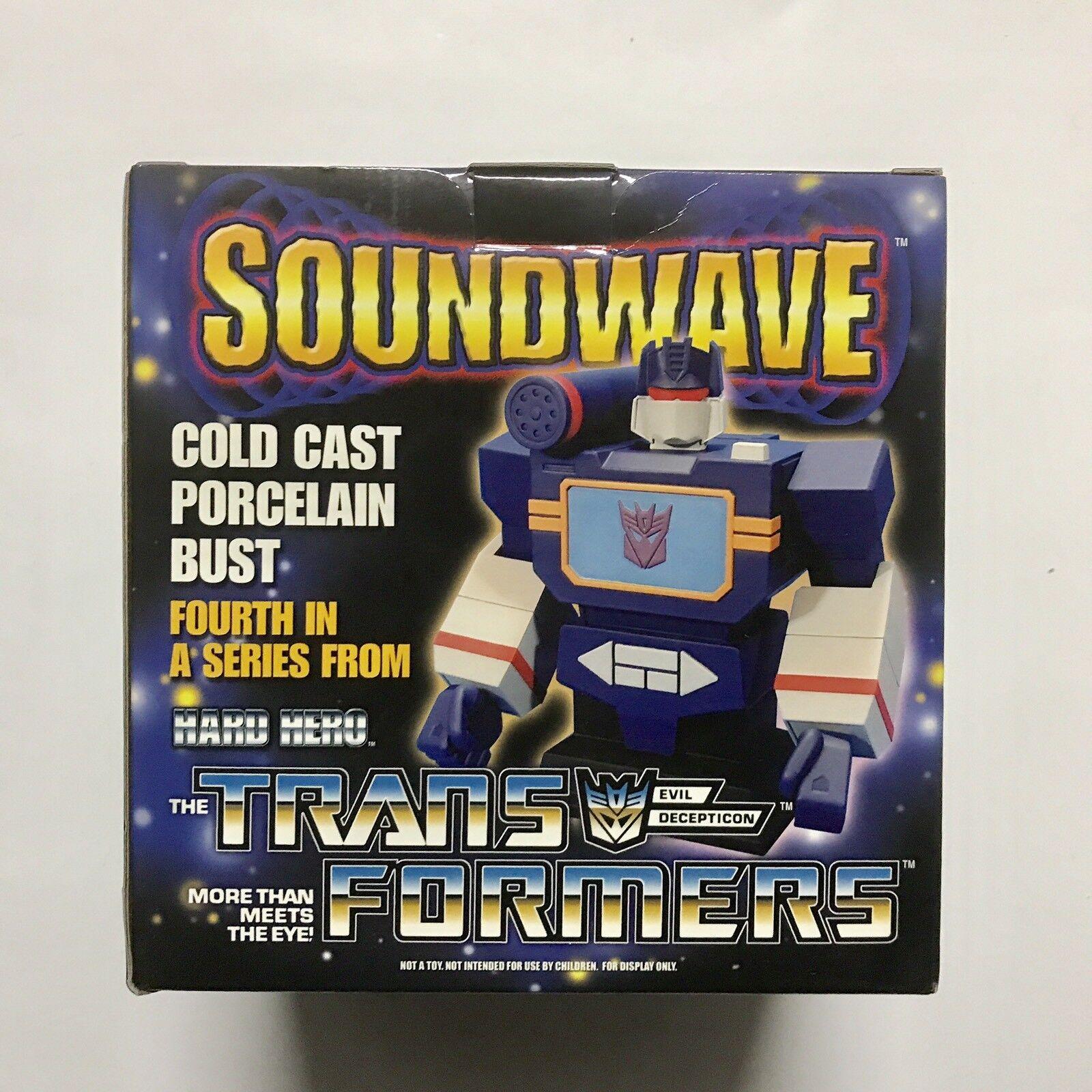 Hard Hero Transformers Soundwave Cold Cast Porcelain Bust Hasbro