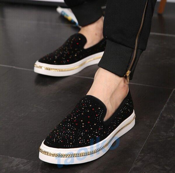 Moda de Para hombres Informales antideslizante en mocasines de Moda diamantes de imitación Conducción Zapatos Tenis De Moda d905c0