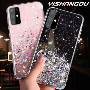 Huawei-P-Smart-2019-2020-Bling-Glitter-Clear-Gel-Soft-Phone-Case-Cover