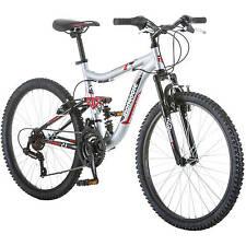 "Boys Mountain Bike 24"" Aluminum Frame Bicycle Shimano Full Suspension NEW"
