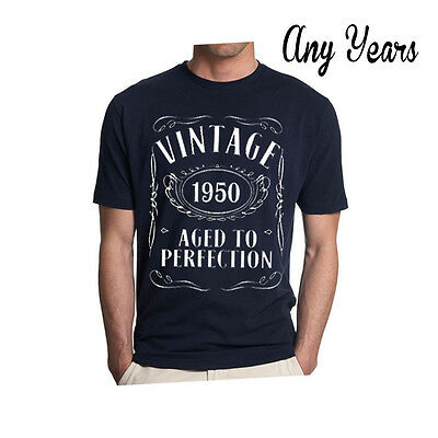 VINTAGE AGED TO PERFECTION T-shirt BIRTHDAY Present Gift Any Years Father Day.