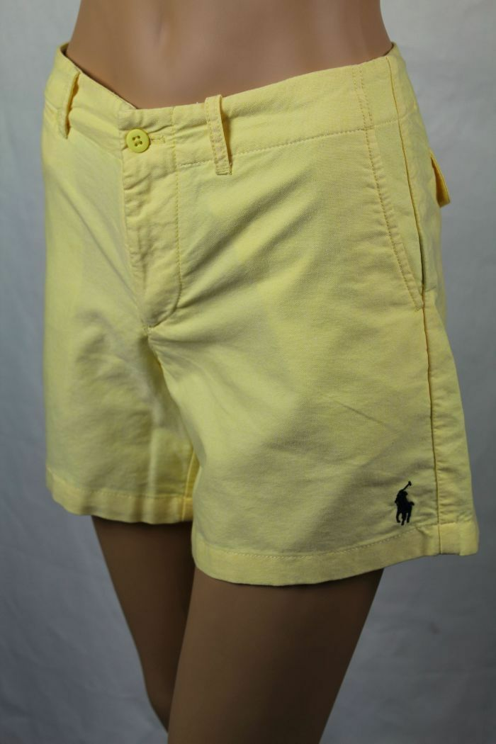 Ralph Lauren Sport Yellow Navy bluee Pony Shorts NWT 6