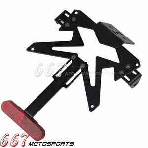 Tail Number Plate Holder Fender Eliminator And Reflective Film Hyosung GT650R
