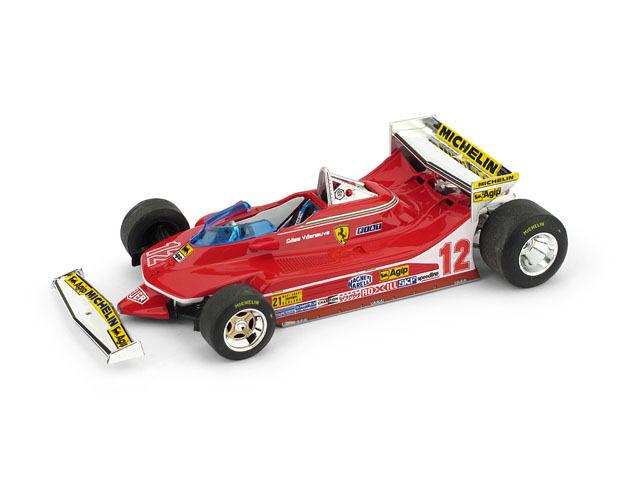 BRUMM BRUR578B - Ferrari 312 T4 1er GP USA ouest Test 1979 Villeneuve 1 43