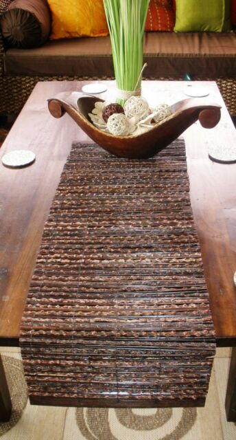 Balinese Coco Stick Table Runner 100cm NEW from Bali #1066