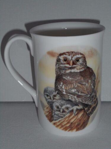 Owl Design Bone China Mug Boxed Brand New Bone China Mug Owl Gift Uk seller,