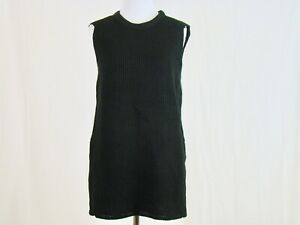 Harve-Benard-Women-039-s-Sleeveless-Side-Slit-Black-Sweater-NEW-NWT-Size-M