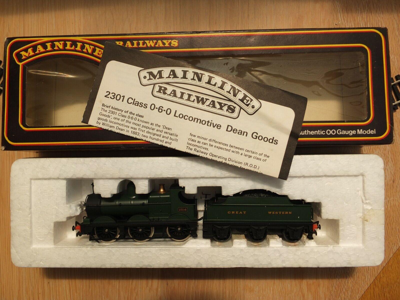 Mainline 54156 GWR Class 2301 Dean Goods 0-6-0 Locomotive 2516 & Tender - Boxed