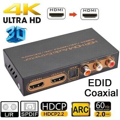 UHD 4k HDMI 2.0 audio extractor HDR HDCP 2.2 De-Embedder digital analog splitter