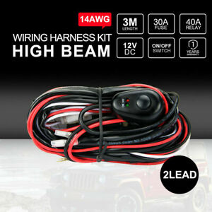 Details about DC 12V 30A Wiring Harness kit Loom 14AWG Wire For LED on