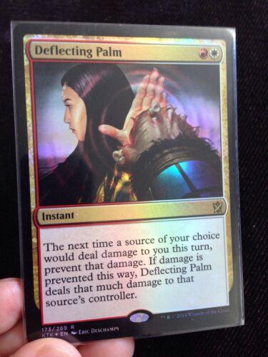 English Magic MTG 1X Deflecting Palm Near Mint Foil 4 Available