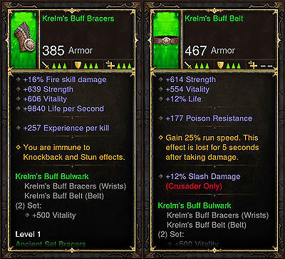 Diablo 3 RoS PS4 [SOFTCORE] - Krelm's Buff Bulwark Set [Ancient] | eBay