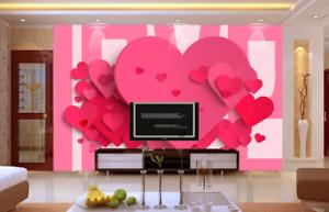 Papel Pintado Mural De Vellón Forma De Amor De pink 2 Paisaje Fondo De Pansize