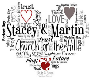 image is loading personalised love heart a4 word art print engagement