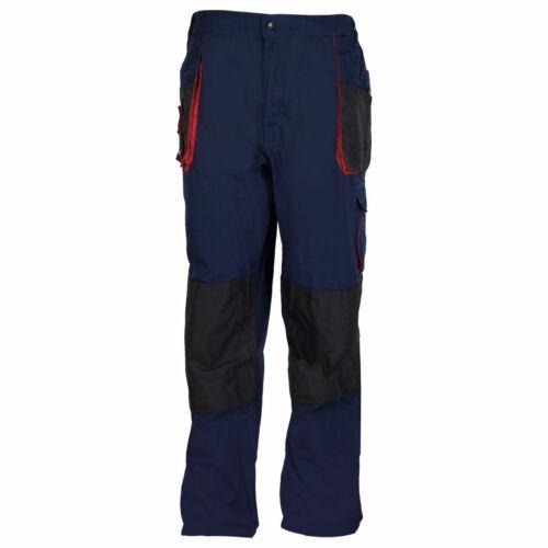 Terratrend Job señores pantalones trabajo pantalones federal, marina, negro