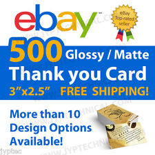 500 ebay thank you business cards custom and personalized glossy ebay 500 ebay seller professional thank you business cards free shipping colourmoves