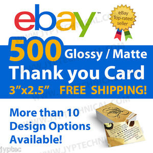 image is loading 500 ebay seller professional thank you business cards - 500 Free Business Cards Free Shipping