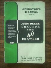 Jd John Deere 40 Crawler Owners Manual