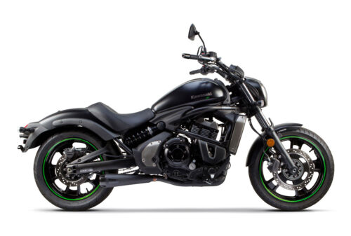 2015-2020 Kawasaki Vulcan 650 S Two Brothers Full Exhaust System Black Comp-S