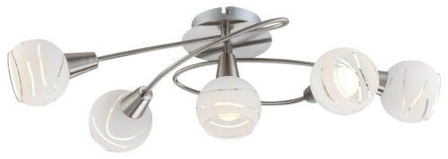 LED 20 Watt Decken Leuchte Esszimmer Beleuchtung Lampe Deckenlampe Nickel Glas