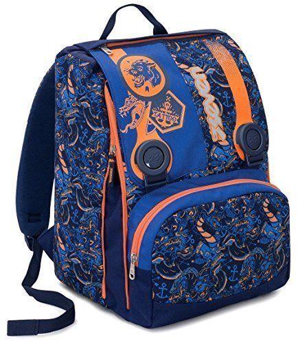 elementari e me Blu Arancione KYLIN Zaino Scuola Estensibile SEVEN 28 Lt