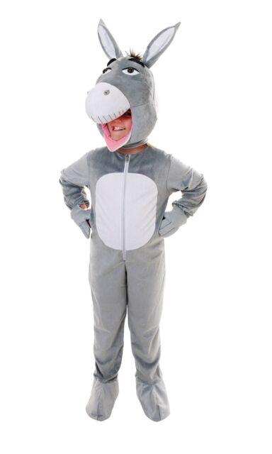 Childrens Big Head Donkey Costume Age 8 9 10 Book Week Fancy Dress Shrek