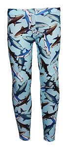 300aa72ba2f45b Kids / Girls Cute Shark Sealife Fish Animal Print Leggings Size 5 -10 ...