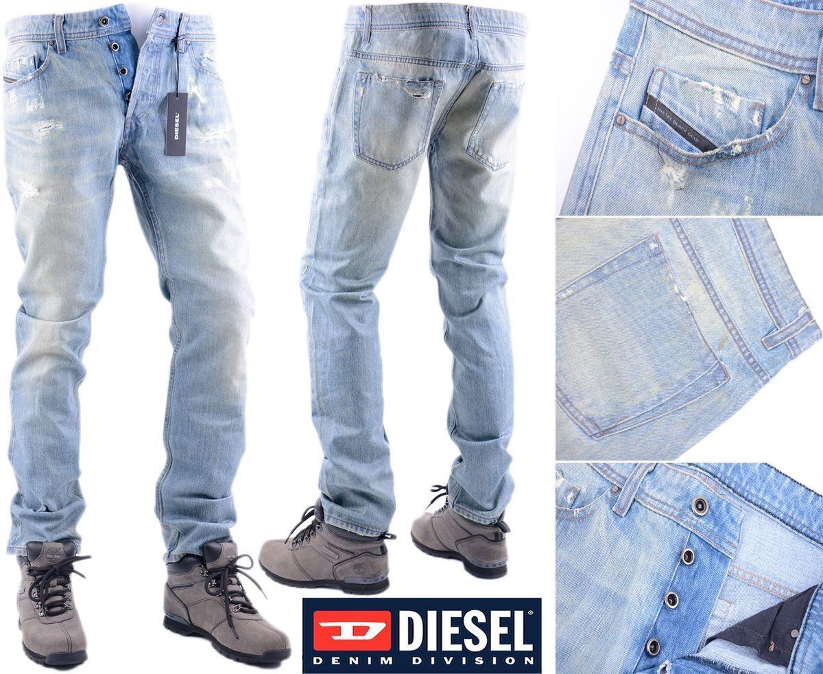DIESEL PredOTIPI PANTALONI W30 L30 EX-SAMPLE Mens Denim Jeans Regular Fit Str...