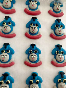 24 x Edible Icing Thomas The Tank Engine Cupcake Toppers Decorations Party Cakes