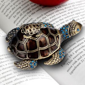 Turtle-Jewelry-Box-Trinket-Case-Crystals-Ceramics-Animal-Gift-Storage-Organizer