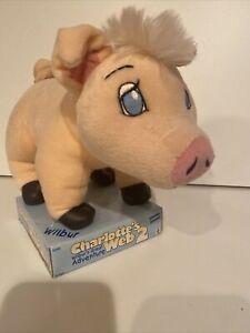 Charlotte's Web 2 Wilbur Great Adventure Plush Pink Pig 11 Inches NRFB