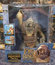 TWO TOWERS LORD OF THE RINGS ELECTRONIC ARMORED TROLL DELUXE SET CAVE TROLL