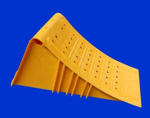 Kunststoff 6500kg mit Gleitschutz Hemmschuh G53 Unterlegkeil gelb Stahlkante