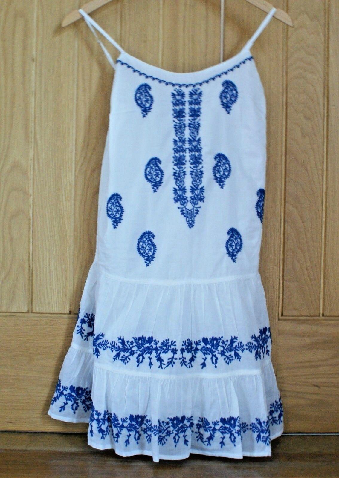 RAPLH LAUREN Dress Weiß 100% Cotton Denim & Supply Sundress Größe Small RRP