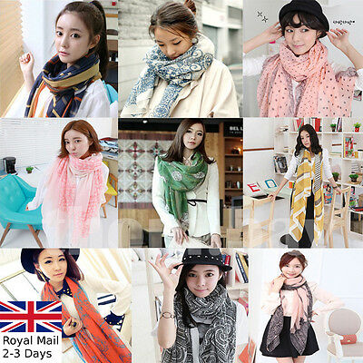 Fashion Ladies Women Soft Long Neck Large Floral Scarf Wrap Shawl Sarong Dress