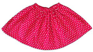 Hand-Made-Girl-s-Size-6-8-10-Red-and-White-Polkadot-Skirt