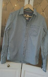 Fat-Face-Blue-White-striped-long-sleeved-shirt-Small-VGC