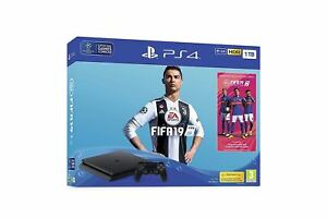 Sony-PLAYSTATION-4-console-1TB-Nero-con-FIFA-19-PS4-Game-Bundle-UK