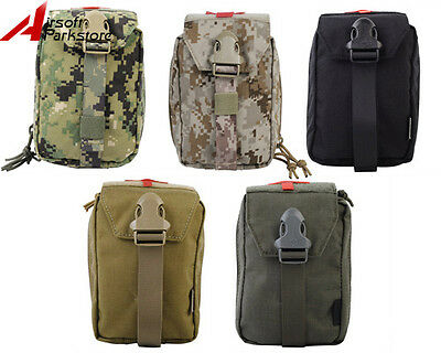 Tactical Military Hunting Airsoft Outdoor Molle Belt Medical First Aid Pouch Bag