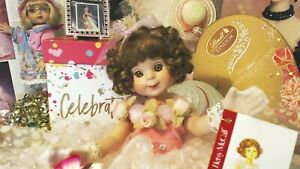 BETSY-MCCALL-14-034-STAMP-DOLL-1998-RESTRUNG-TONNER-DOLL-EXTRAS-1997-STAMP-FRAMED