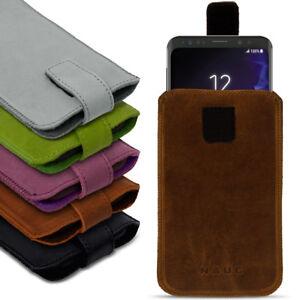 Handyhuelle-Ledertasche-Samsung-Galaxy-S9-Plus-Pull-Tab-Sleeve-Schutzhuelle-Cover