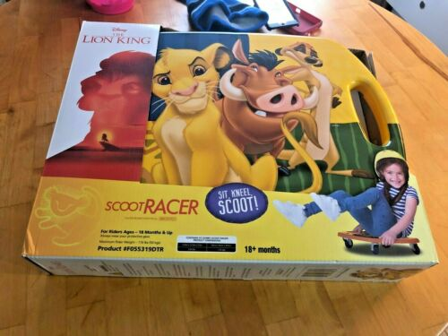 Scooter Racer Caster Board Preschool Childrens Kids Toy Disney The Lion King New