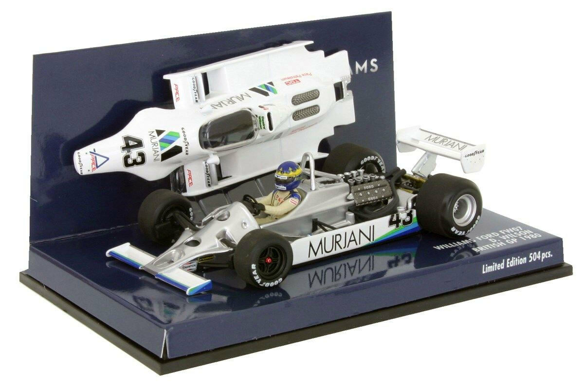 Minichamps Williams FW07 GP BRITANNICO  43 1980-DESIREE WILSON SCALA 1/43